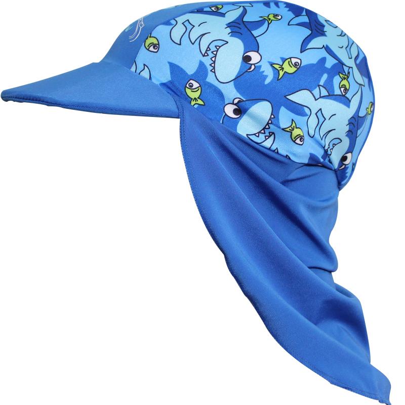 兒童防晒鬼子帽 防紫外線沙灘帽 寶寶防晒泳帽太陽帽遮陽帽游泳帽