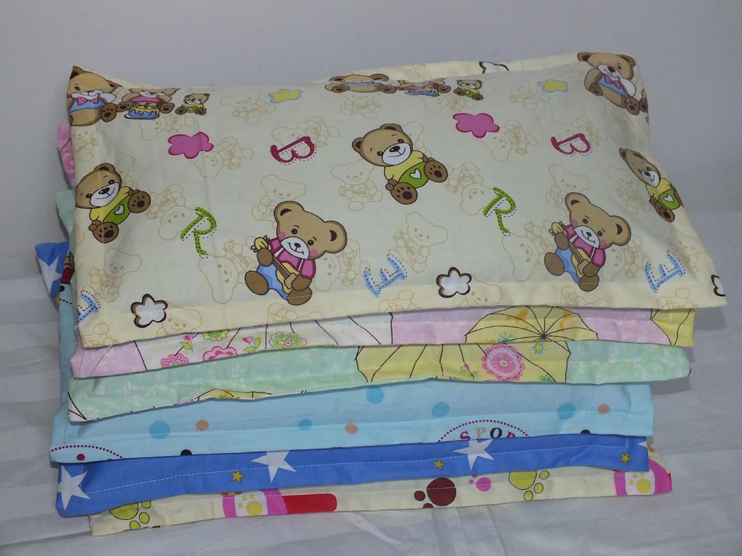 純棉兒童枕套 嬰兒枕頭套小孩寶寶新生兒加長枕芯套40*25 2個包郵
