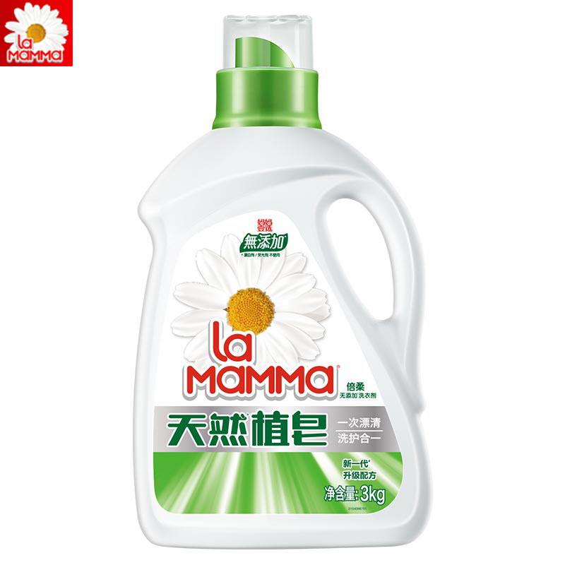 媽媽壹選洗衣液3kg天然皁液易漂洗倍柔清香特價促銷瓶裝包郵