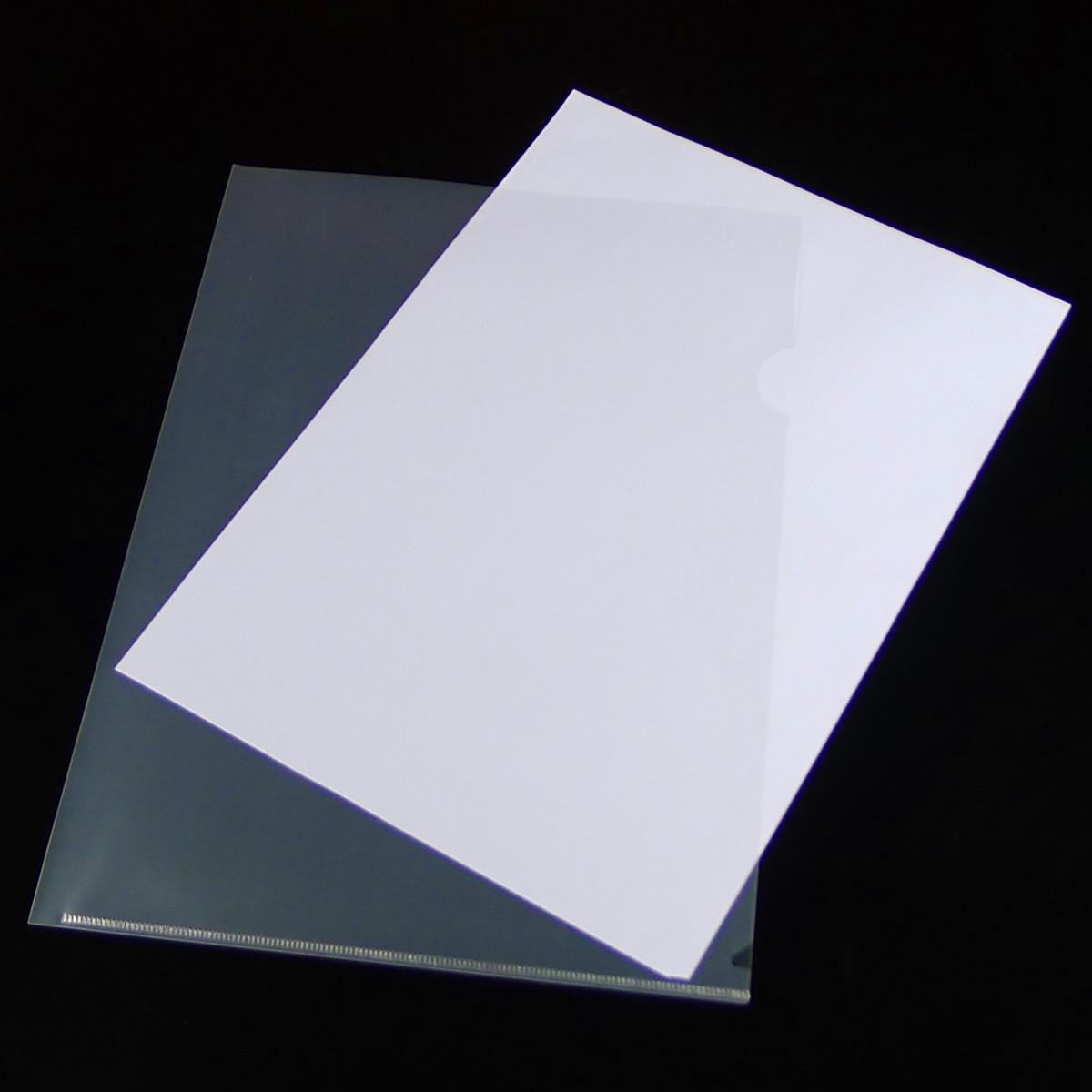 包邮单片夹a4 L型文件夹 A4二页文件套 文件袋透明单页夹办公用品