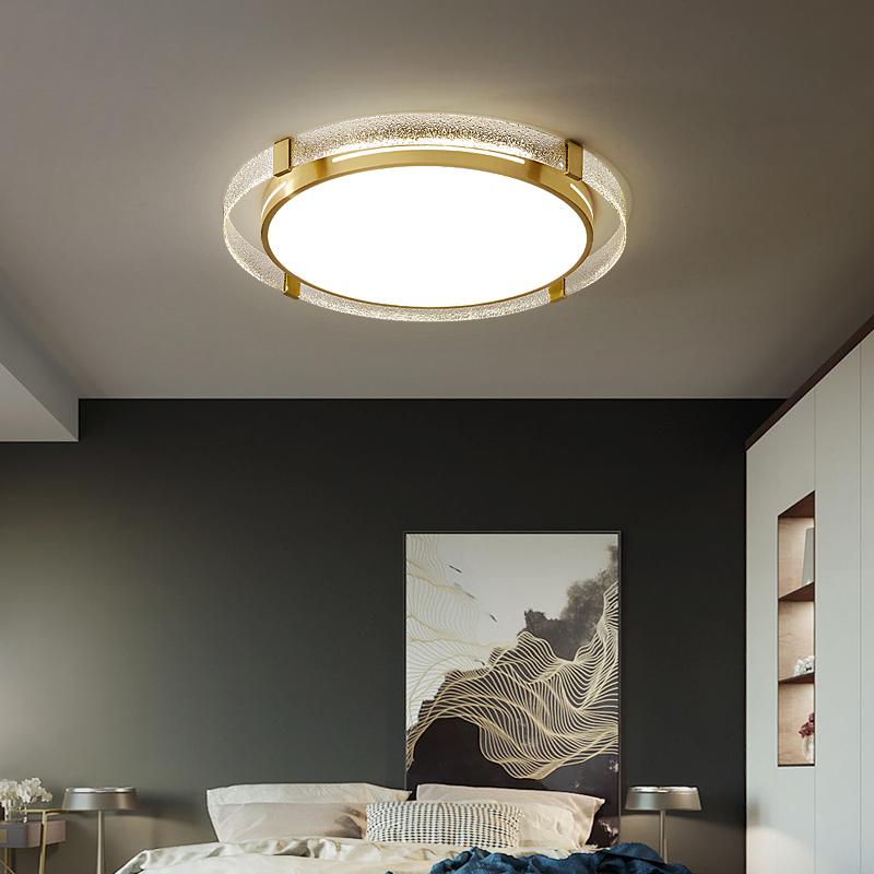 北欧全铜卧室吸顶灯后现代简约创意个姓客厅灯轻奢大气书房间灯具