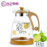 Household glass of cold water bottle cooler bottle glass tea kettle temperature cool boiled water cup large capacity explosion-proof suit