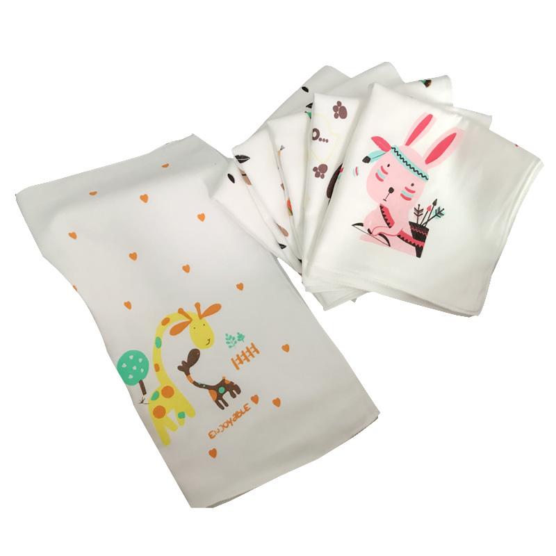 婴儿纱巾口水巾宝宝喂奶巾纯棉婴儿手帕宝宝擦奶巾方巾手帕洗澡巾