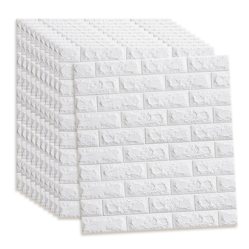 墙纸自粘卧室温馨3d立体墙贴防水防潮防霉泡沫砖防撞背景墙壁贴纸