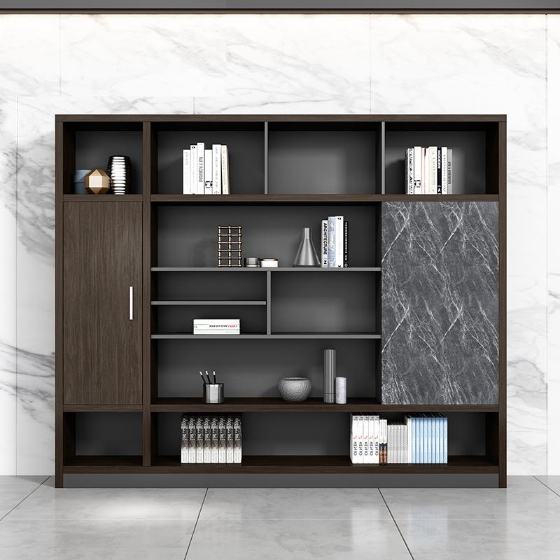 书柜办公室书柜资料柜档案公质柜组合老板背景柜储物柜文件柜木质