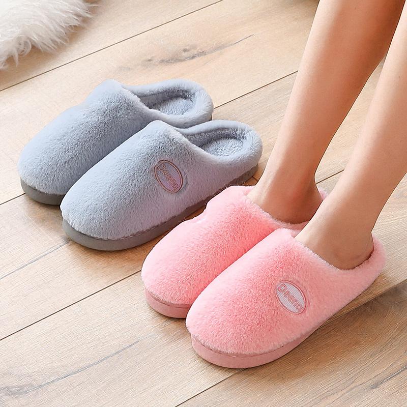 棉拖鞋女厚底冬季室内软底保暖防滑家居用毛绒月子秋冬季毛拖鞋