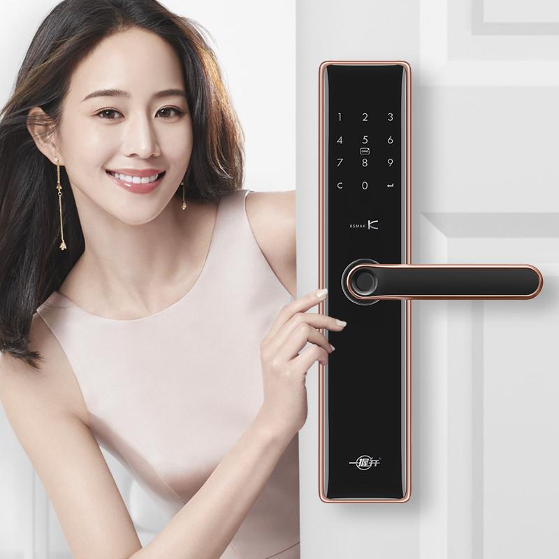 電子門鎖智能鎖家用防盜門磁卡鎖密碼鎖指紋鎖 SK1 金指碼 重磅新品