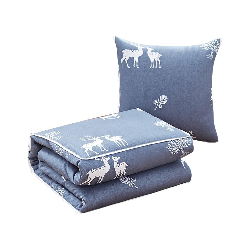 恒源祥纯棉抱枕被子两用办公室睡觉午休枕头车用靠垫折叠空调被