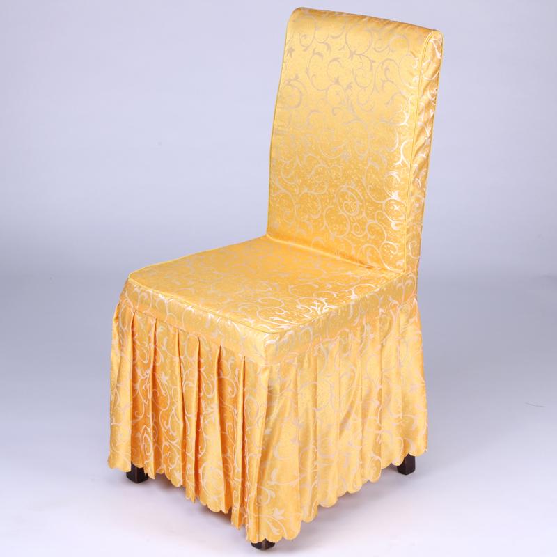 定做酒店椅套连体饭店餐桌椅子套罩餐厅宴会凳子套罩座椅套批发
