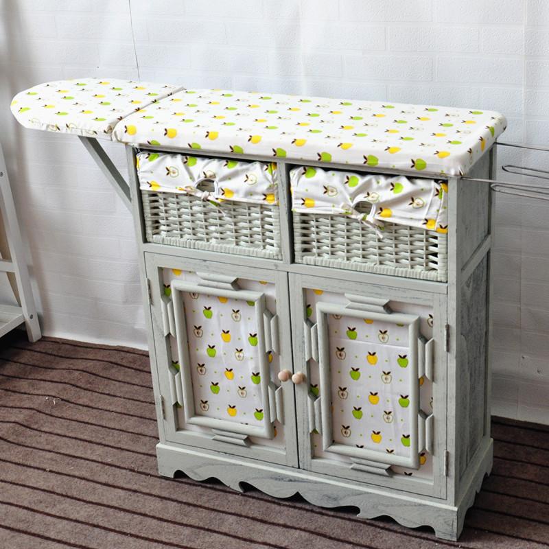 包邮田园烫衣柜实木家用多功能折叠台式熨衣板简约现代居家