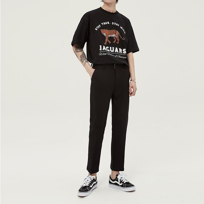 休闲裤小西裤男直筒修身坠感小脚西装百搭韩版裤子九分裤垂感潮流