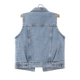 2020 spring and autumn new Korean version of loose large size embroidery casual denim vest female waistcoat vest vest