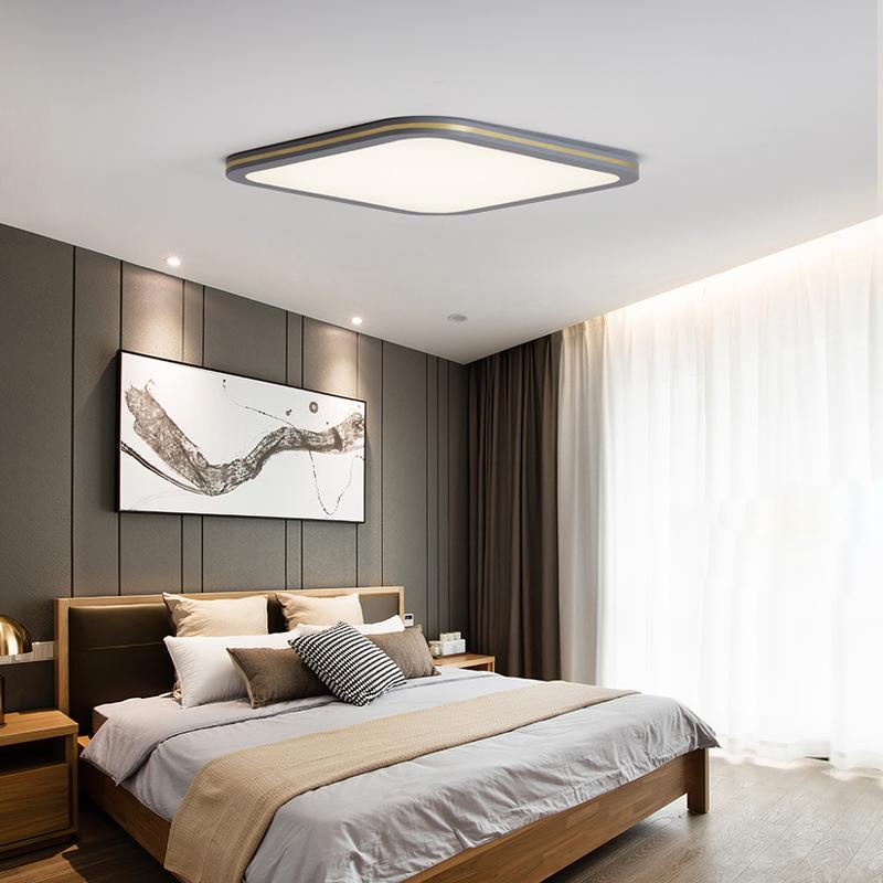 北欧创意家用长方形灯具简约现代卧室书房灯 吸顶灯客厅灯 led 超薄