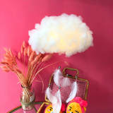 Japanese cute ins cloud lights diy material cover feathers decorative children's room cotton vibrating the same lamp