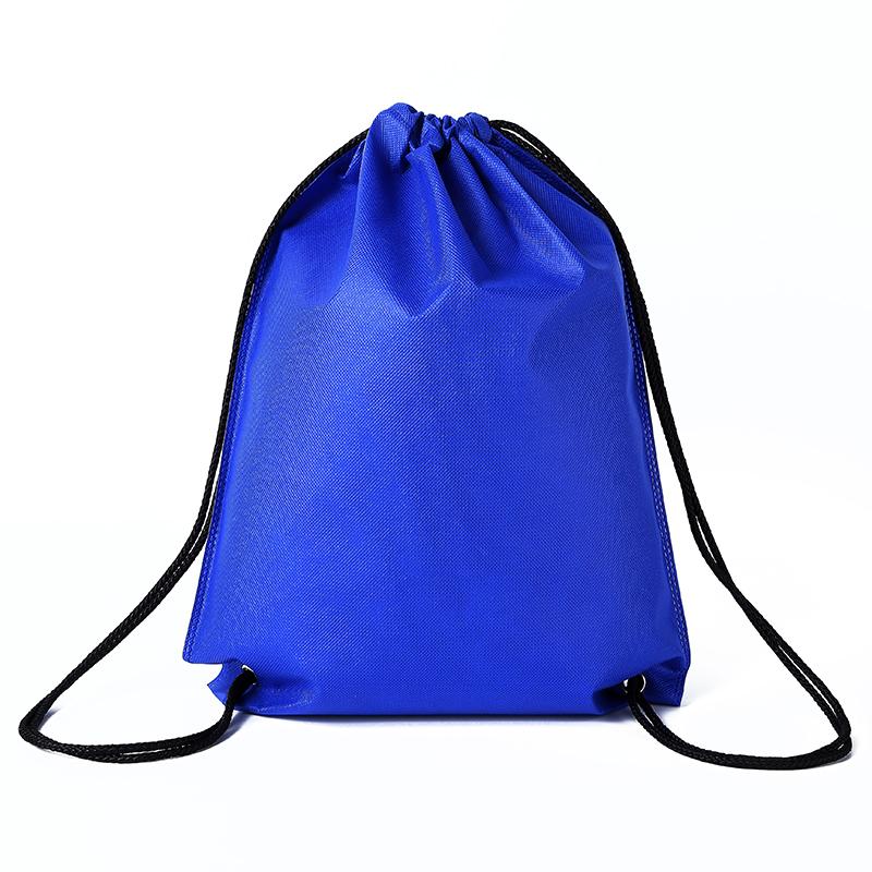 环保抽绳背包广告宣传运动书包无纺布束口袋双肩包定制订做印LOGO
