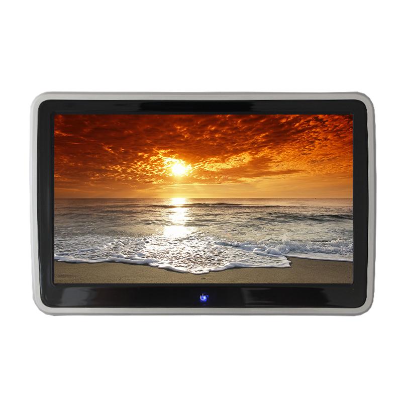 新款汽车后排娱乐系统 车载电视高清黑色头枕dvd显示器mp5 1080p