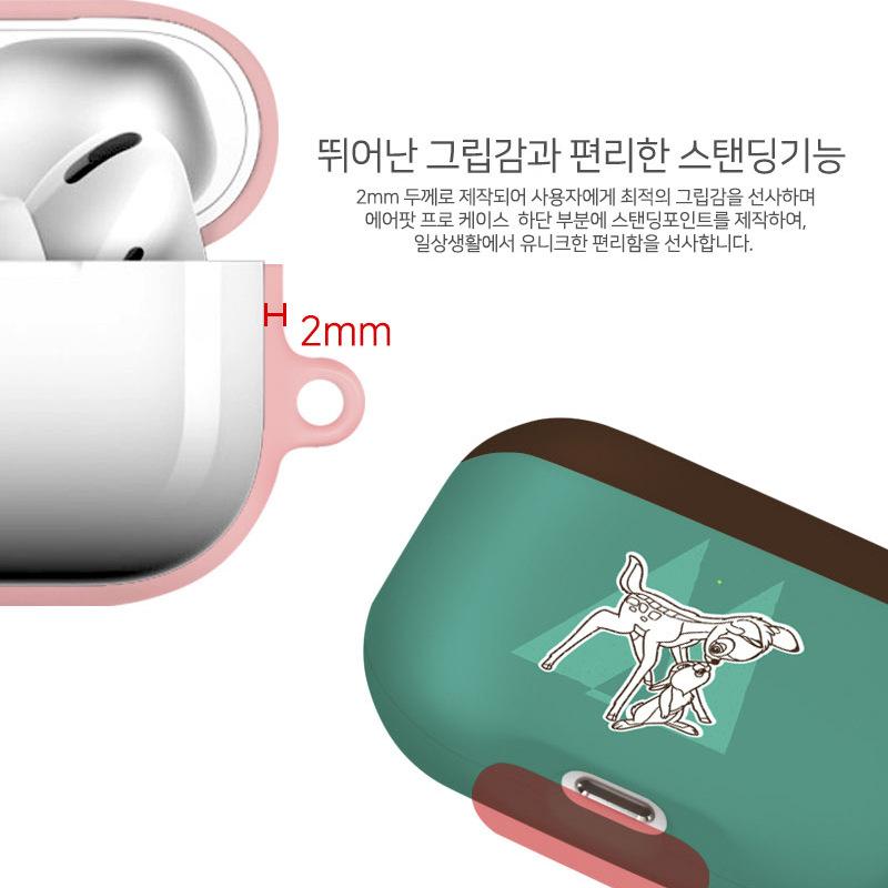 韩国迪士尼小鹿斑比适用苹果Airpods pro3代蓝牙耳机包卡通保护套