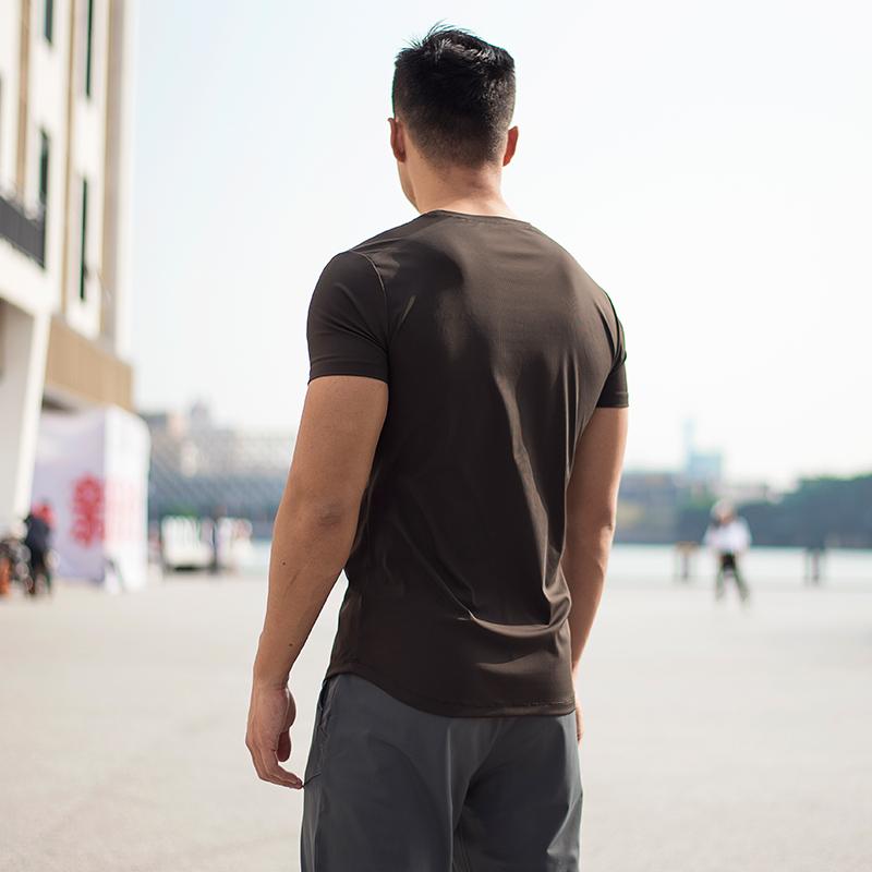 EVENSO Breeze轻薄运动短袖弹力健身衣男速干t恤透气吸汗跑步上衣