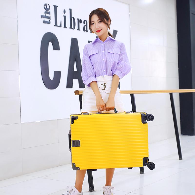 铝框皮箱密码登机箱 24 寸旅行箱 20 行李箱网红女男拉杆箱小型 BINGER
