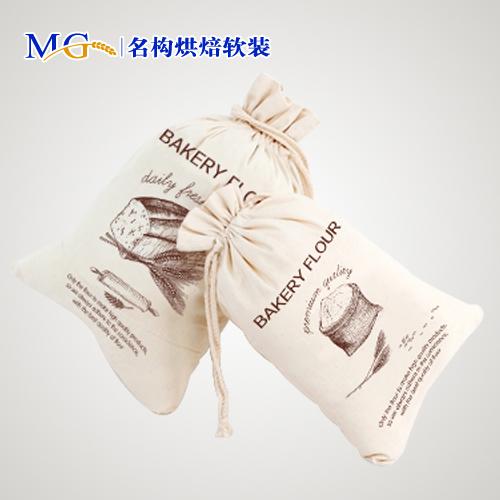 【名构烘焙软装】包邮特价纯棉收纳袋面包蛋糕店摆件面粉装饰袋