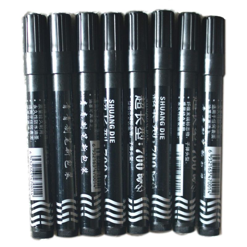 超长型700记号笔大头笔双蝶制笔新包装油性水笔 现货黑色红色