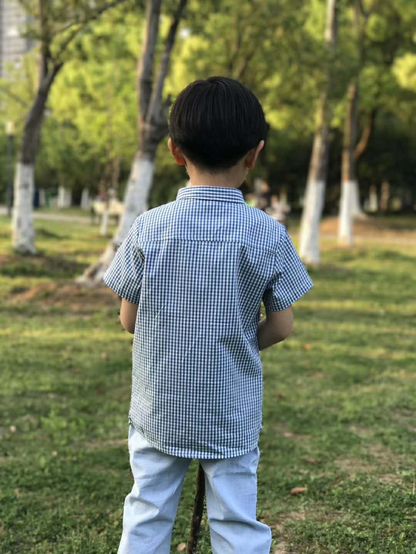 童装男童衬衣2019春装新款儿童衬衫休闲中小童格子短袖纯棉韩版潮