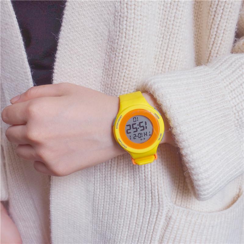多功能原宿電子表 ulzzang 高考考試專用手表男女學生韓版簡約潮流