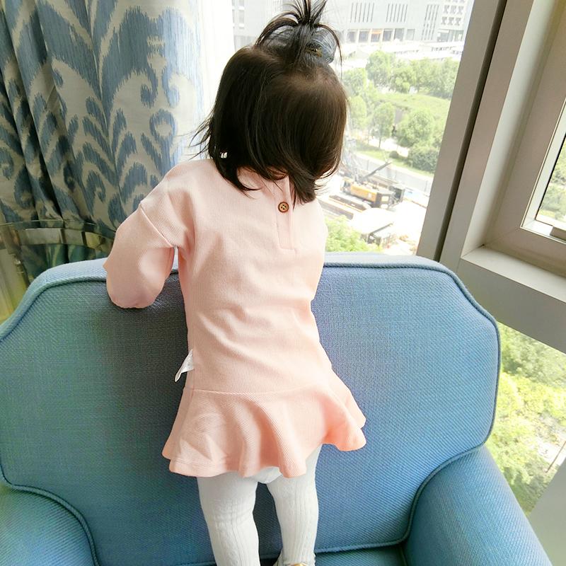 宝宝秋装套装女0一1岁婴儿衣服女童开衫毛衣裙子针织打底衫连衣裙
