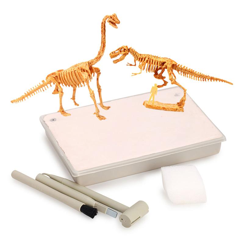 泰国恐龙化石考古挖掘玩具 益智儿童霸王龙diy拼装仿真骨架模型