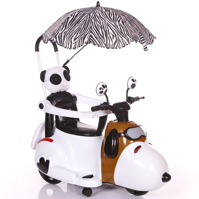 新款儿童电动摩托车三轮车6个月6岁轻便手推车小孩充电可坐玩具车