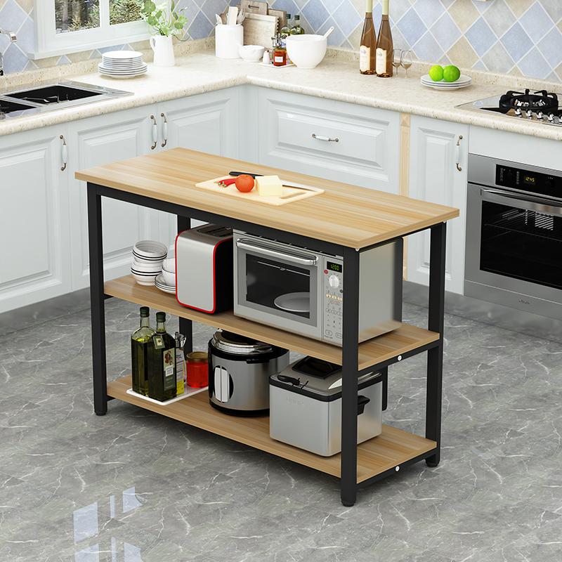 廚房切菜桌小桌子餐桌家用多功能收納桌長桌定制置物架廚房操作臺