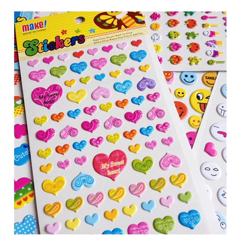 儿童可爱小贴纸奖励画花粘贴纸卡通动物表情笑脸贴图宝宝粘贴贴画