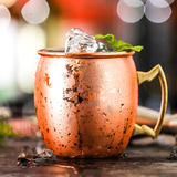 Mule Moscow point copper hammer cup cup moscow mule cocktail metallic glass steel bar cup