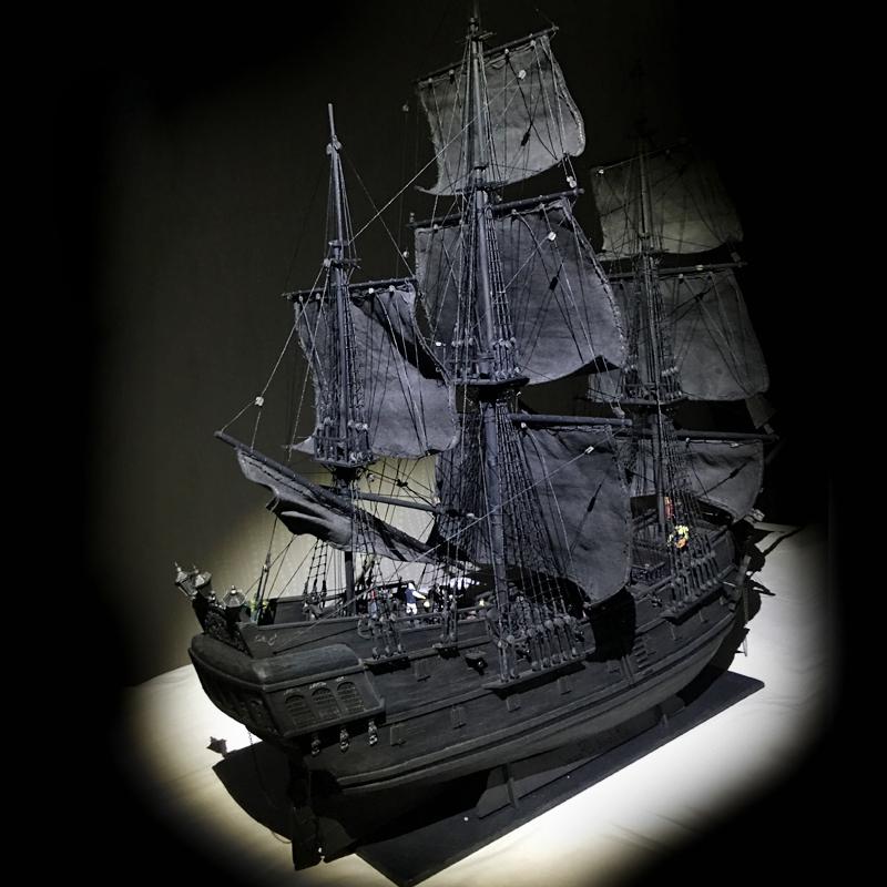 木质帆船DIY船模型拼装套材--加勒比海盗 黑珍珠号,益智,动手