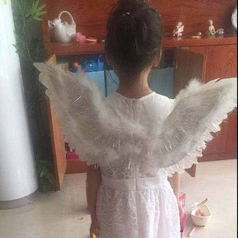 天使翅膀白色羽毛儿童翅膀成人儿童翅膀道具模特走秀新娘花童装扮
