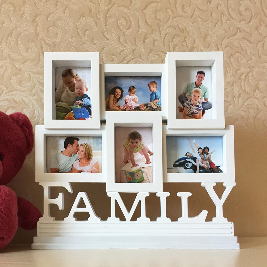 影楼5孔family连体组合钱包照相框3寸照片墙桌摆欧式儿童创意摆台