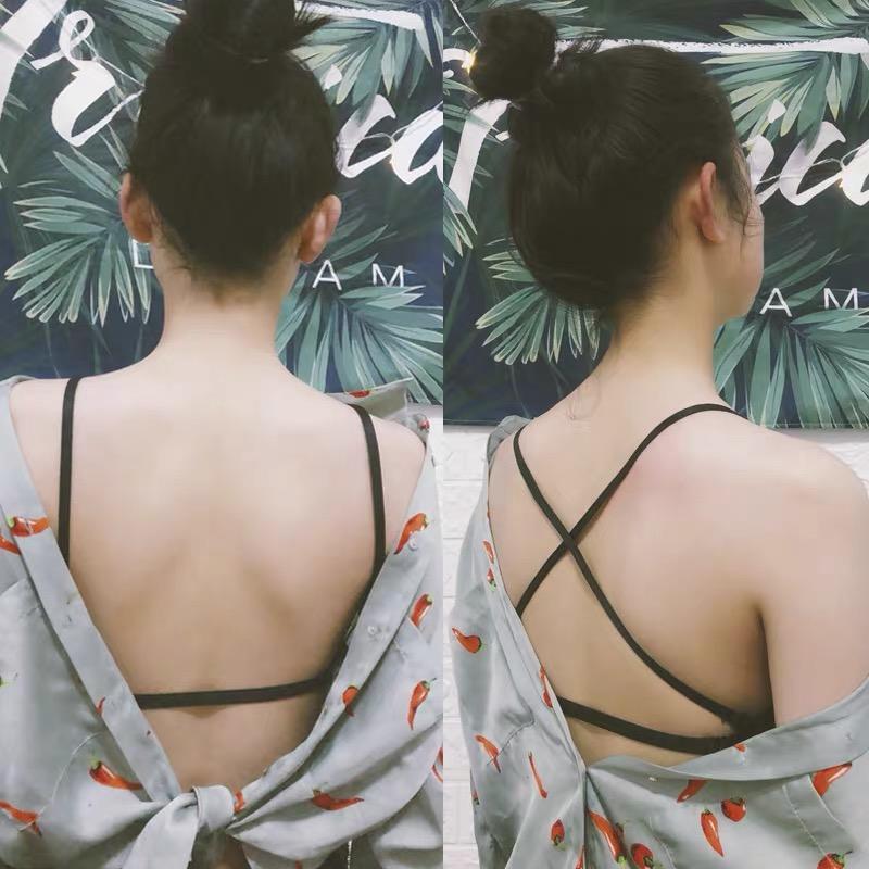 网红爆款美背文胸性感聚拢前扣内衣少女薄款细肩带露背隐形小胸罩 No.1