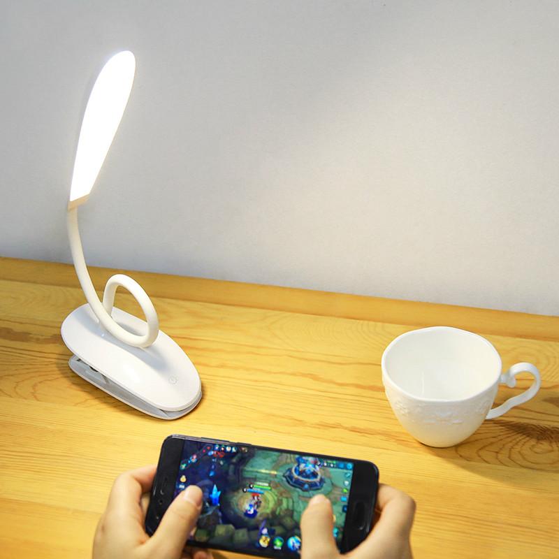 久量led充电台灯卧室护眼书桌大学生宿舍床头阅读夹子创意小台灯