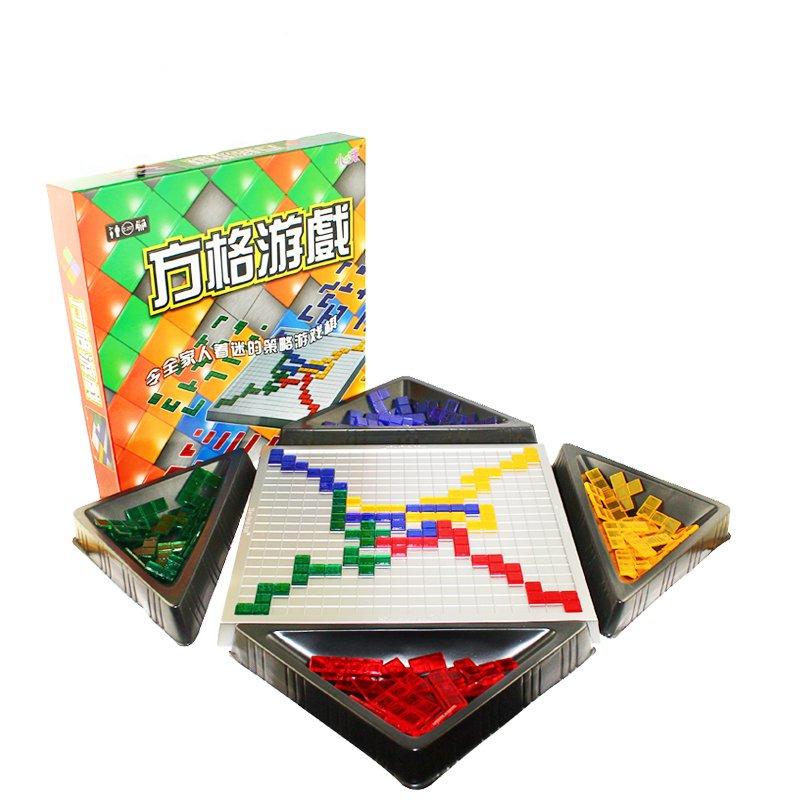 桌游角斗士棋2-4人版Blokus 方块方格游戏小乖蛋益智游戏玩具