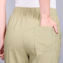 中老年女裤夏季薄款松紧高腰妈妈装裤子春秋老人宽松大码休闲女裤