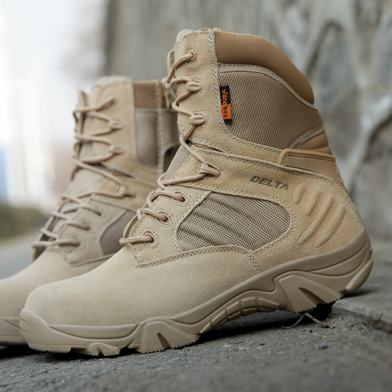 户外正品三角洲军靴男夏季特种兵作战靴沙漠靴战术靴陆战靴登山靴