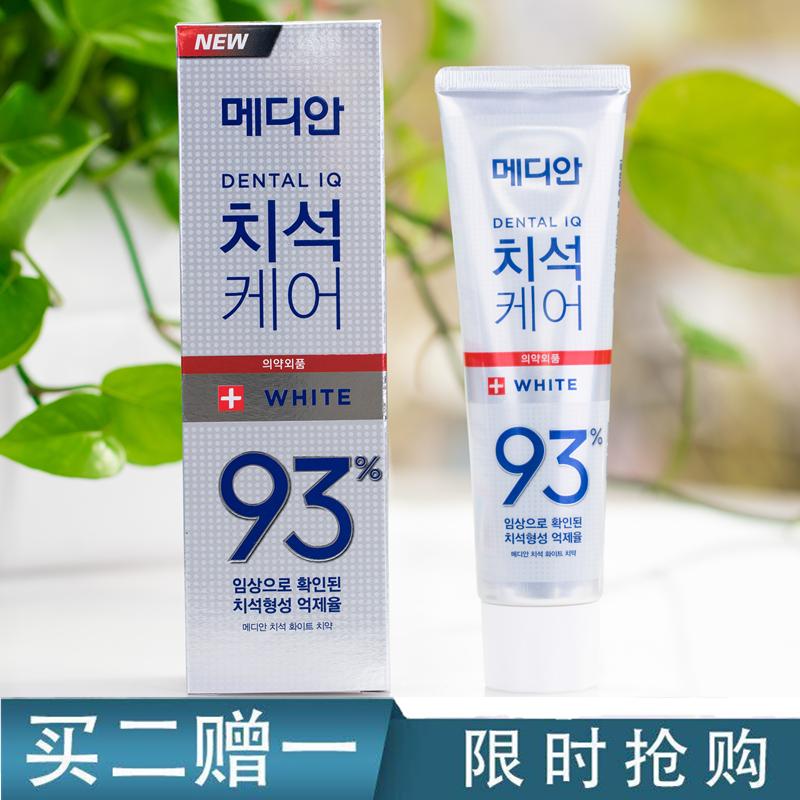 韓國 愛茉莉麥迪安86牙膏 美白強效去黃漬去牙結石去煙漬 93牙膏