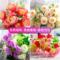 单支假花仿真花束客厅向日葵塑料花假花玫瑰花装饰花干花小把花束