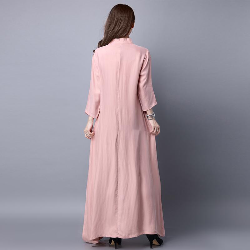 重磅铜氨丝连衣裙女2021夏季新款大码修身改良旗袍真丝清仓长裙子主图