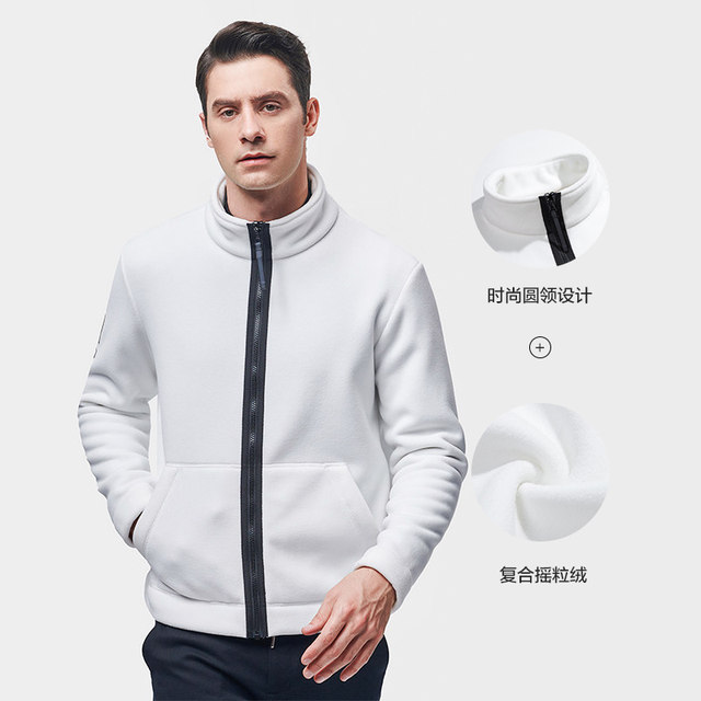 Percy and outdoor new fleece fleece women autumn and winter windproof and warm coral fleece fashion stand-up collar fleece jacket