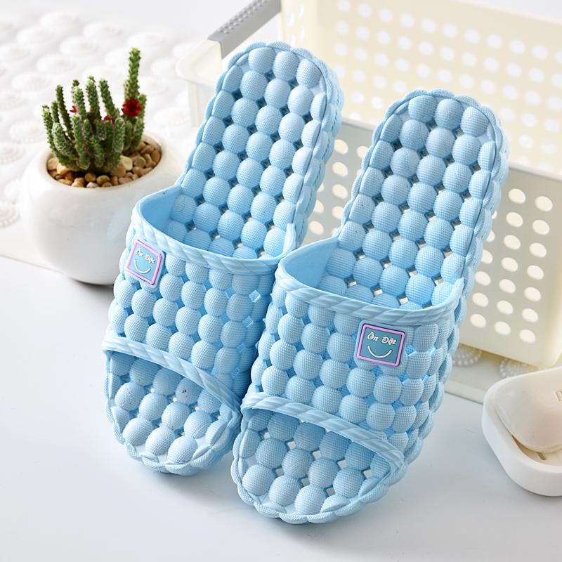 进口越南温突家居男女情侣镂空洞洞浴室室内洗澡橡胶防滑揉按拖鞋