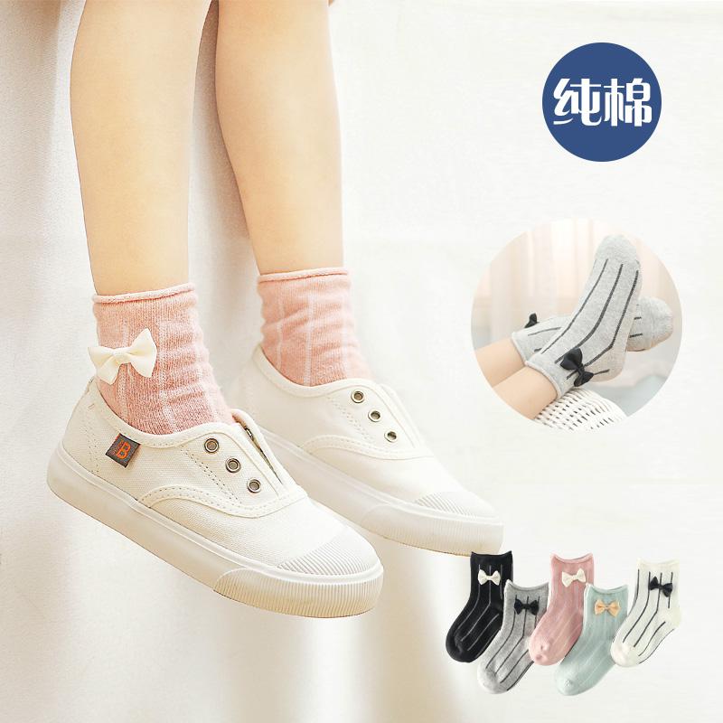 兒童襪子純棉3-5-7-9歲立體卡通寶寶短襪子鬆口女童襪子春夏新款