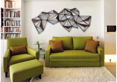 欧式金属抽象几何图形壁饰壁挂酒店铁艺立体地图软装艺术创意墙饰
