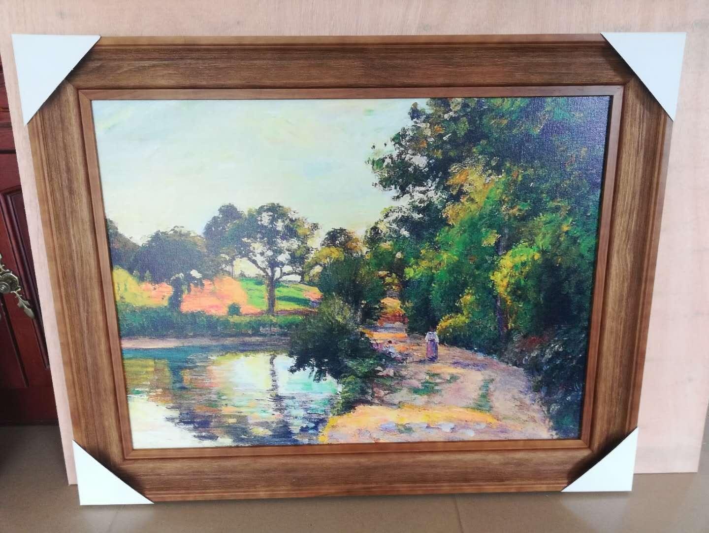 實木定制款油畫外框裝裱畫框定做5060708090數字油畫框鏡子框