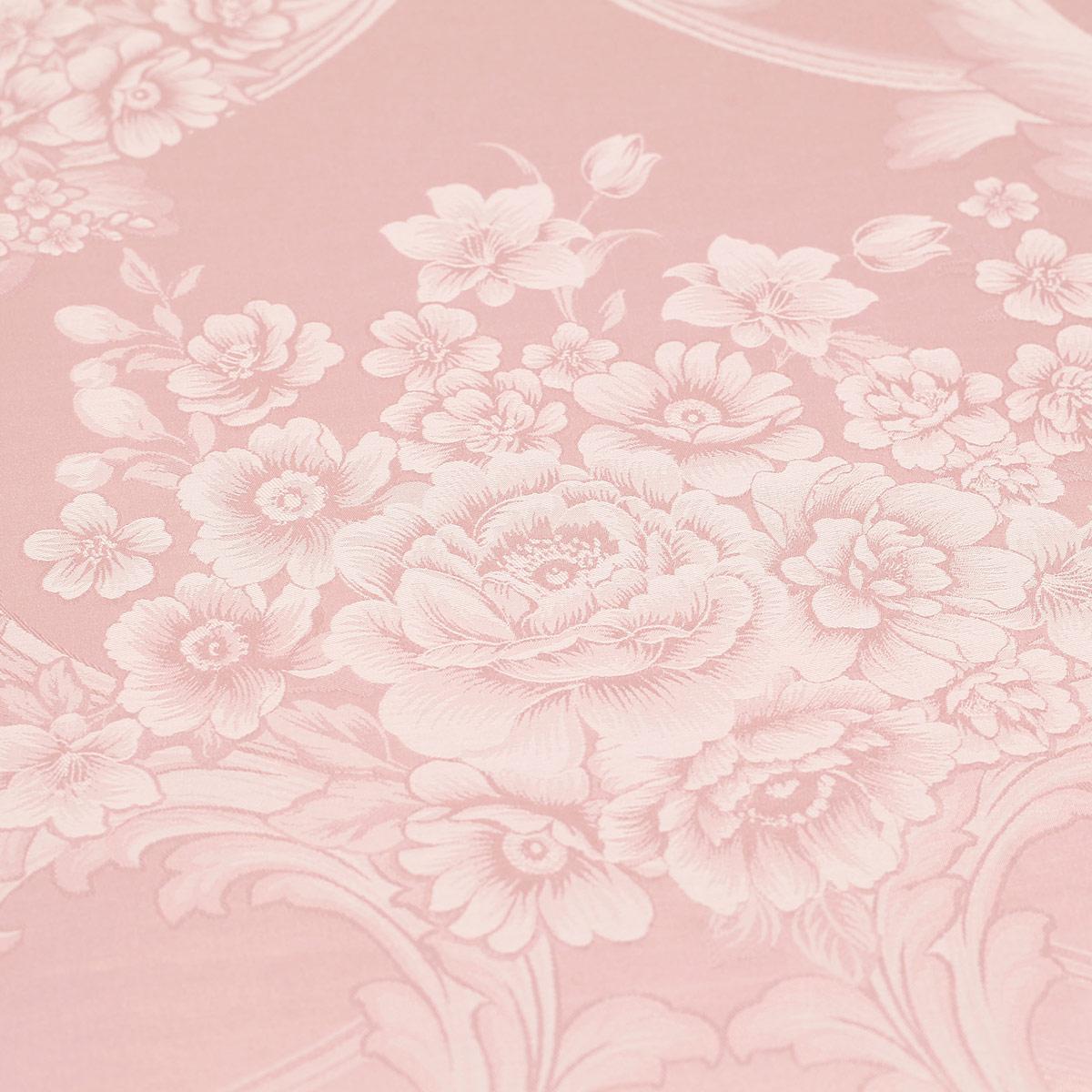 水星婚庆旗舰店正品欧式提花四件套粉结婚新婚1.8m四件套沁香浮动